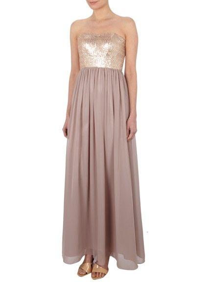 LAONA Abendkleid im Empire-Stil mit Pailletten in Lila ...