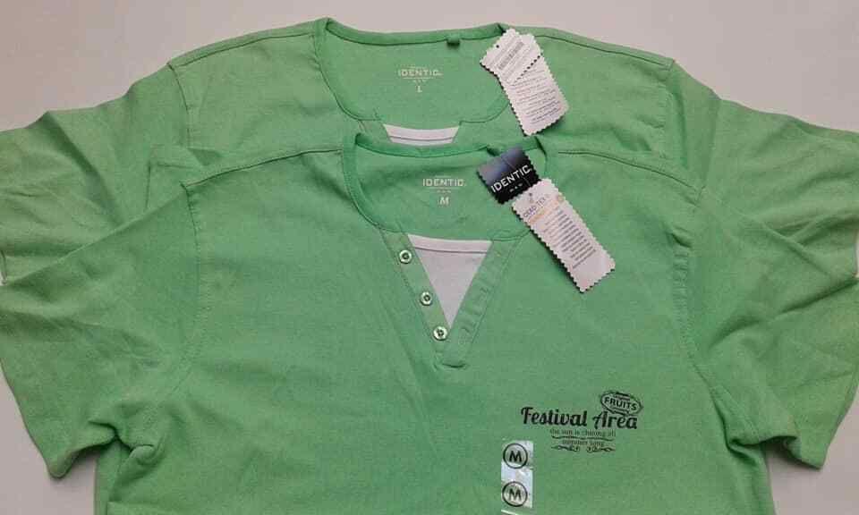 Identic Man 2 Slim T Shirt Grosse M 48 50 Farbe Grun Oeko Tex