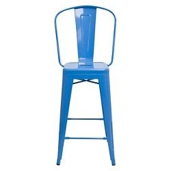 AEON Garvin Counter Stool - Blue (Set of 2) : Target $179