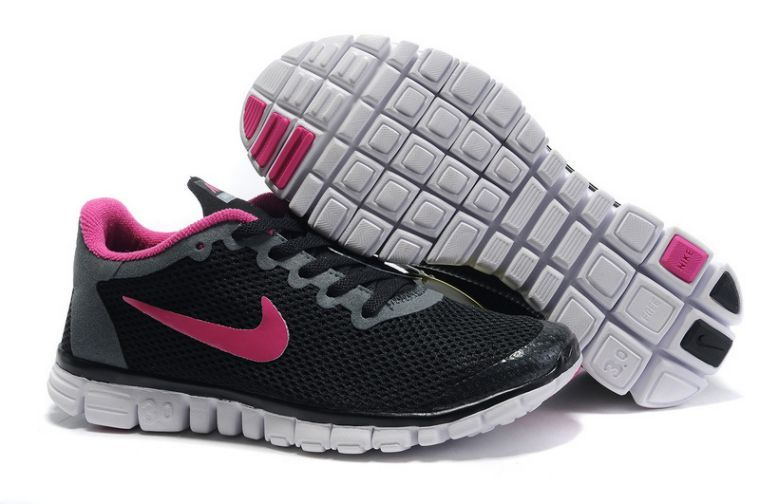 Nike Free 3.0 V2 For Sale Womens Running Shoes Black/Pink