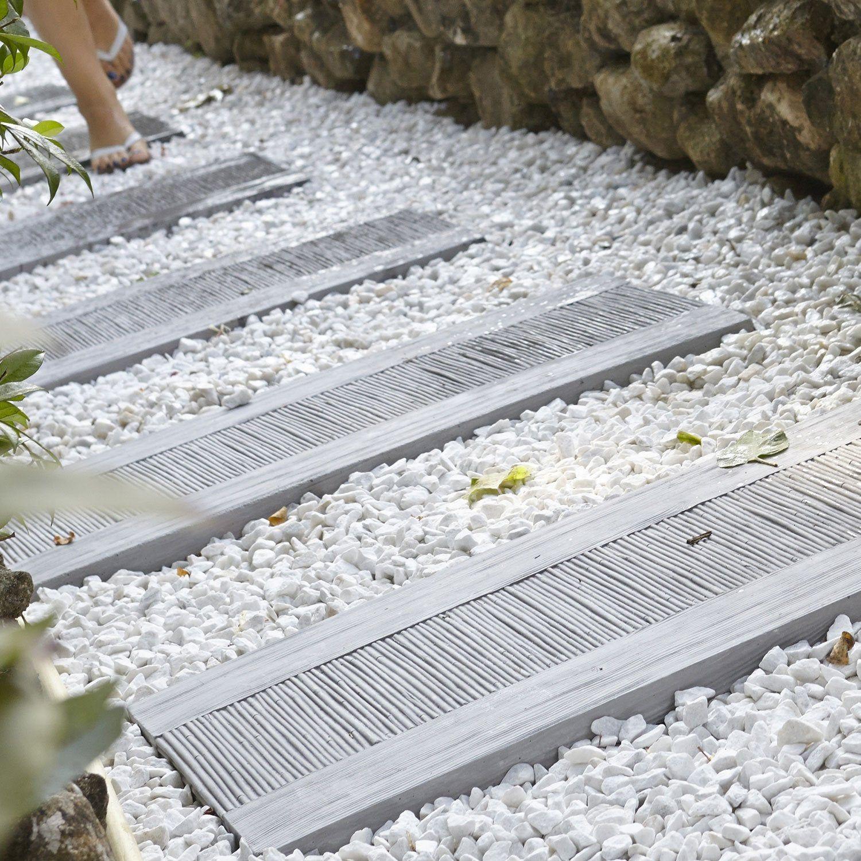 Dalle Schiste Leroy Merlin dalle de cheminement canisse en pierre reconstituée gris, l