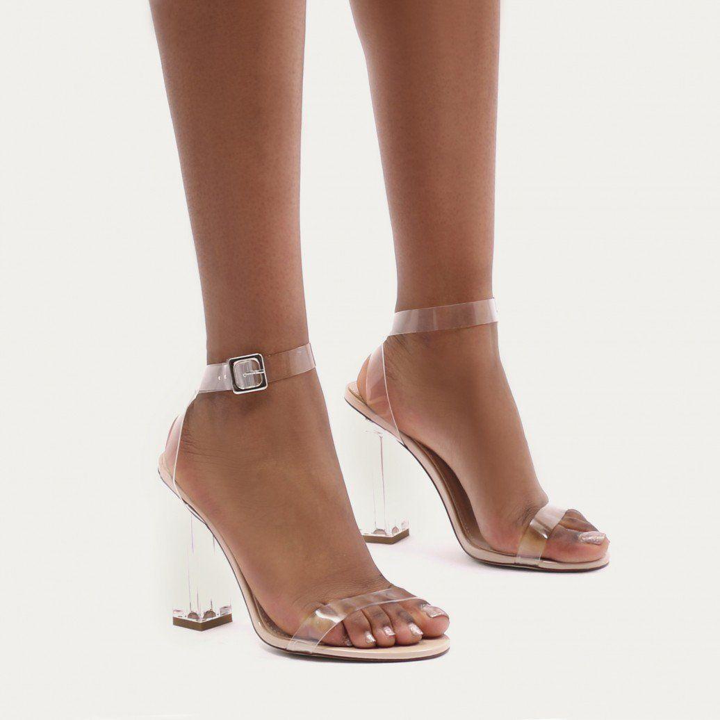 261b1eada1f Alia Strappy Clear Perspex High Heels in Nude