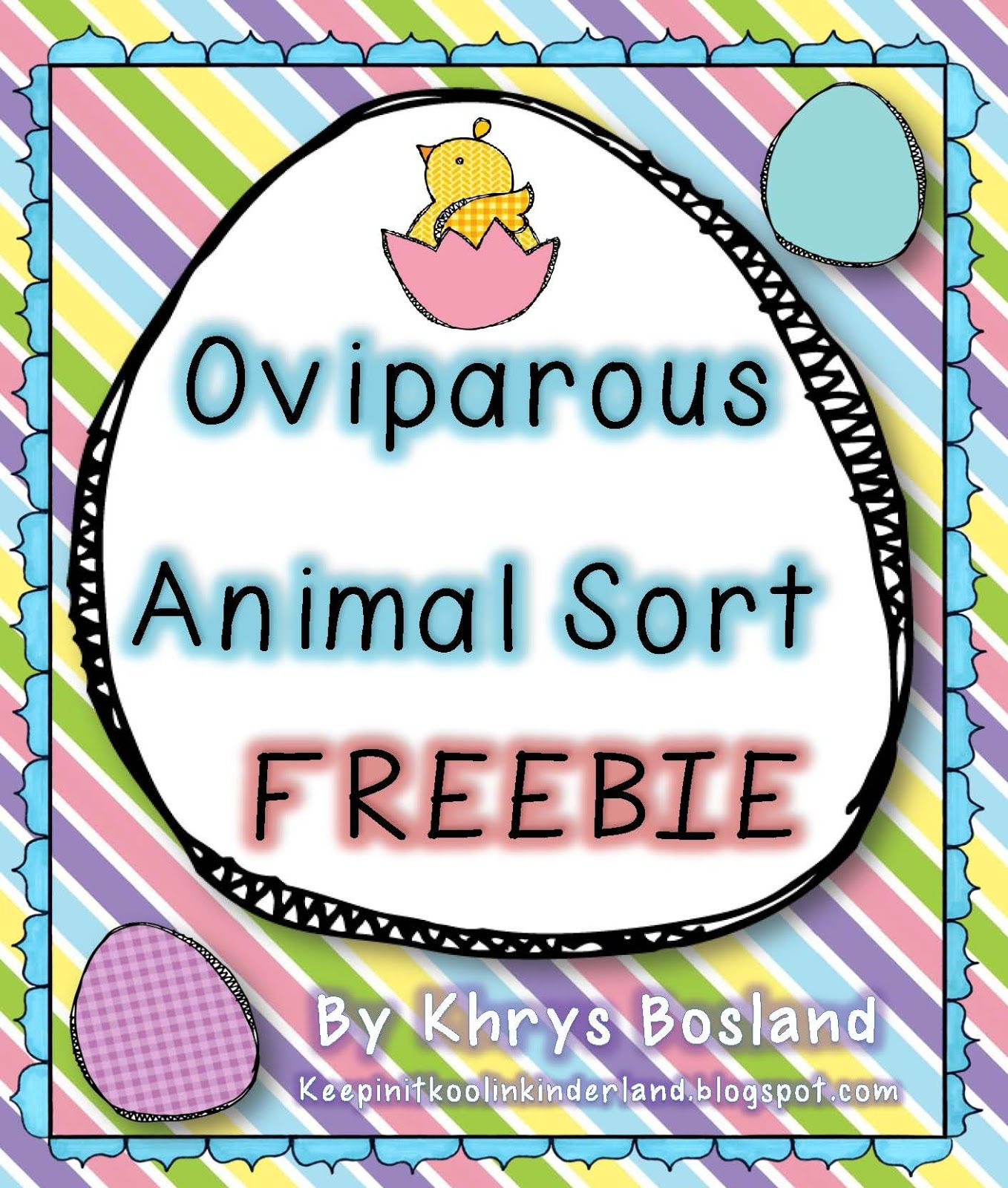Hippity Blog Hop Oviparous Animal Sort Freebie