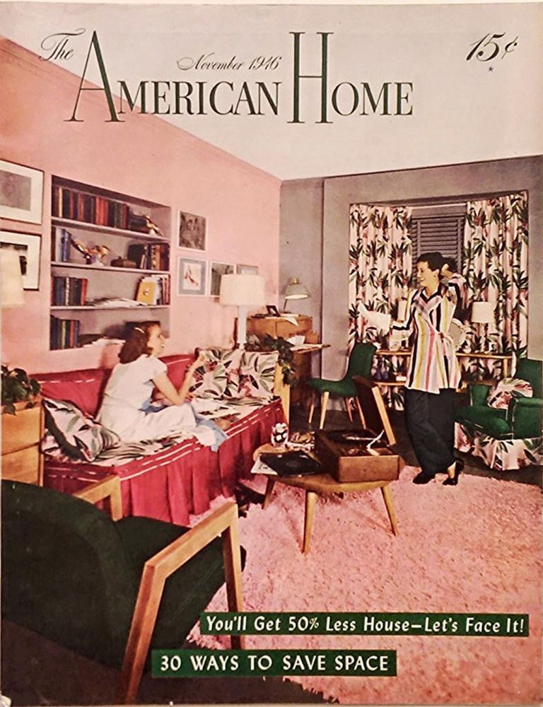 "Kitchen Magazines november 1946 ""the american home"" magazine - ranch house - country"