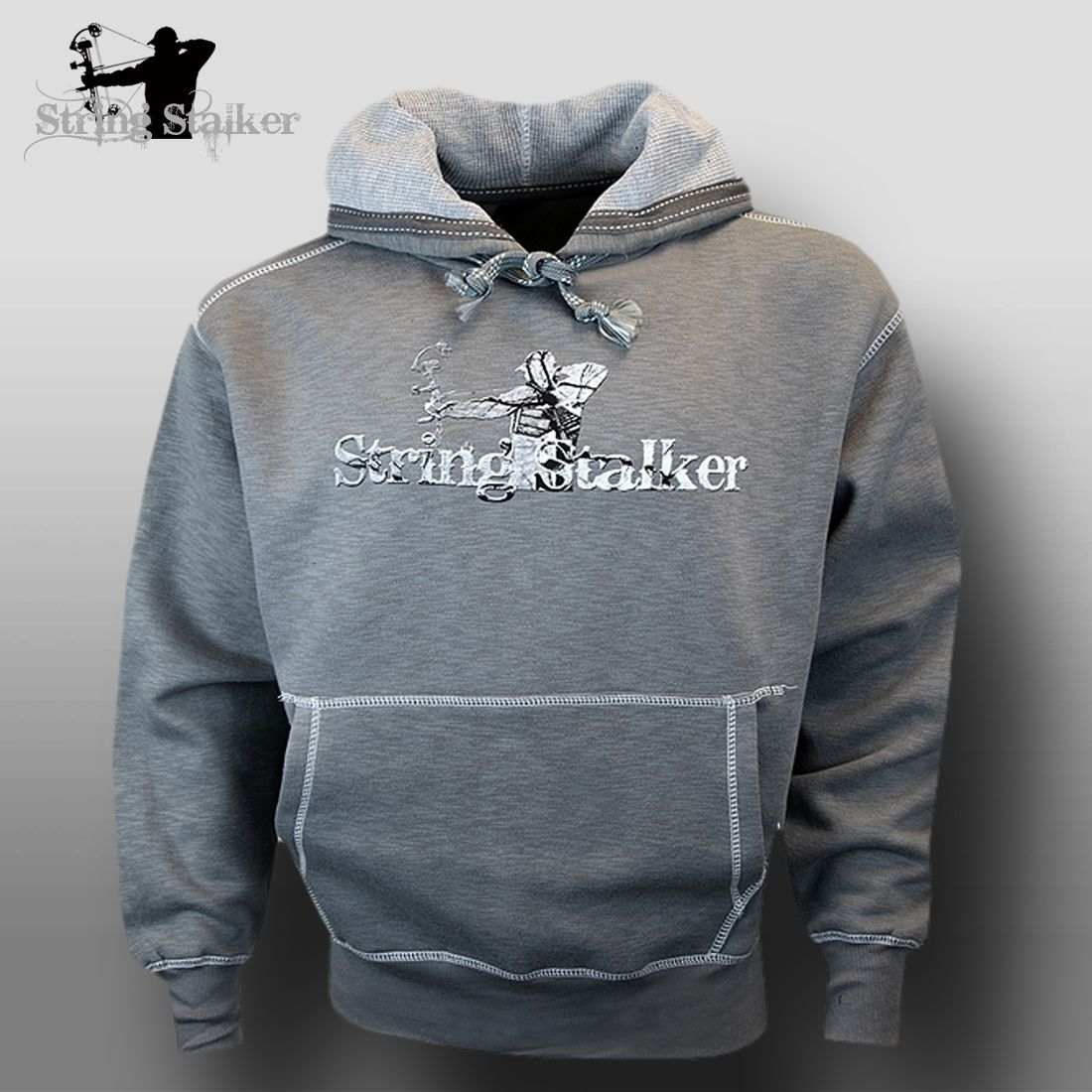 a1be11e3127b6 String Stalker Bow Hunting Ascent Hoodie - Gray