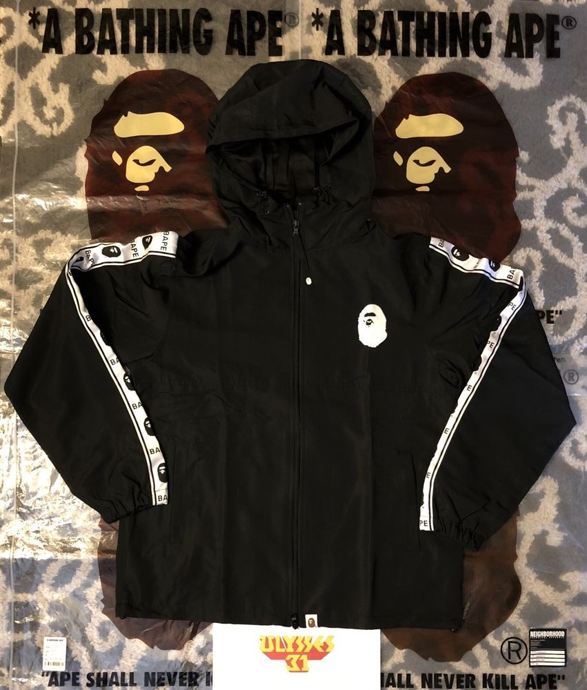0ee1b880c000 BAPE Tape Line Track Jacket 100% Authentic Large  BAPE  BAPETrackJacket