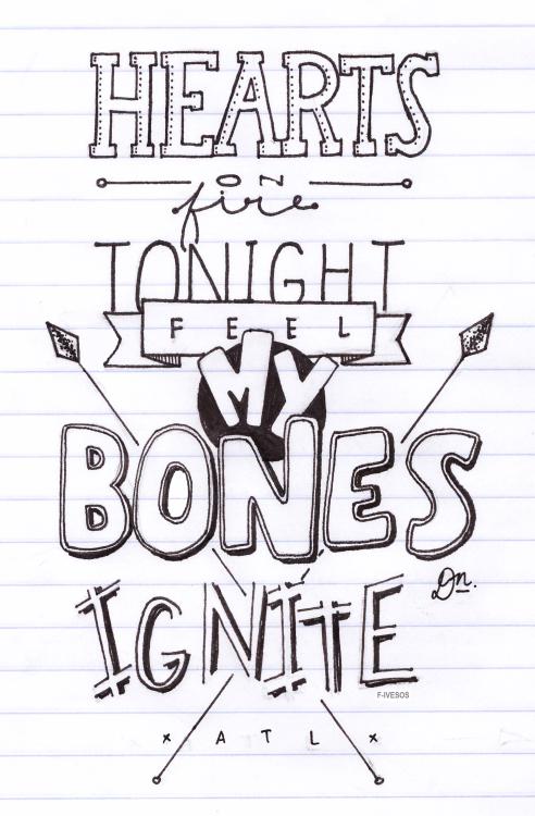 All time low lyrics drawings