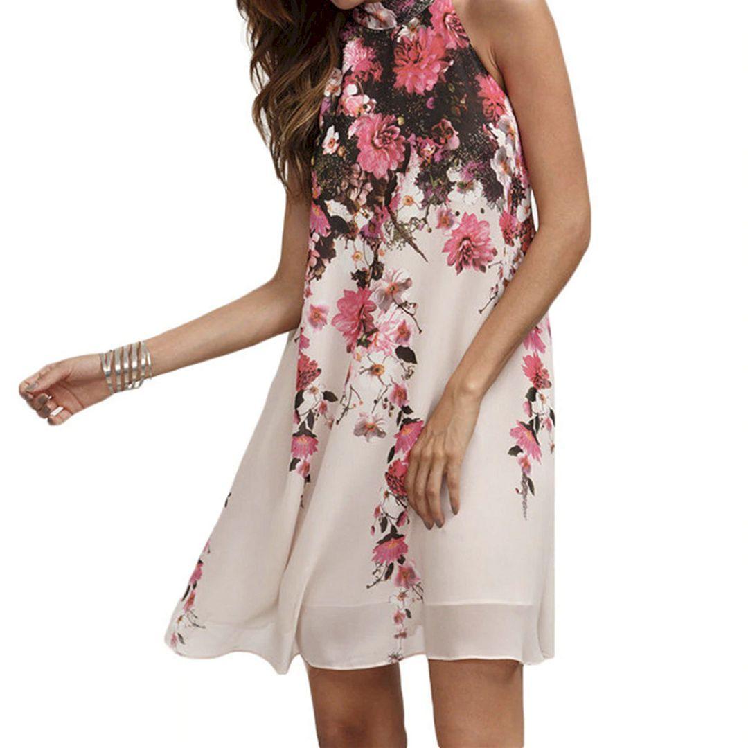 Women Mini Flower Dress Style Ideas