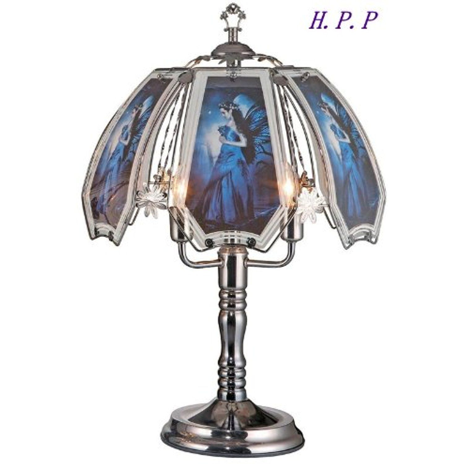 H P P 23 5 H New Glass Fairy Touch Table Lamp W Dark Chrome Finish Base You Can Get Additional Details At The I Touch Lamp Touch Table Lamps Black Lamps