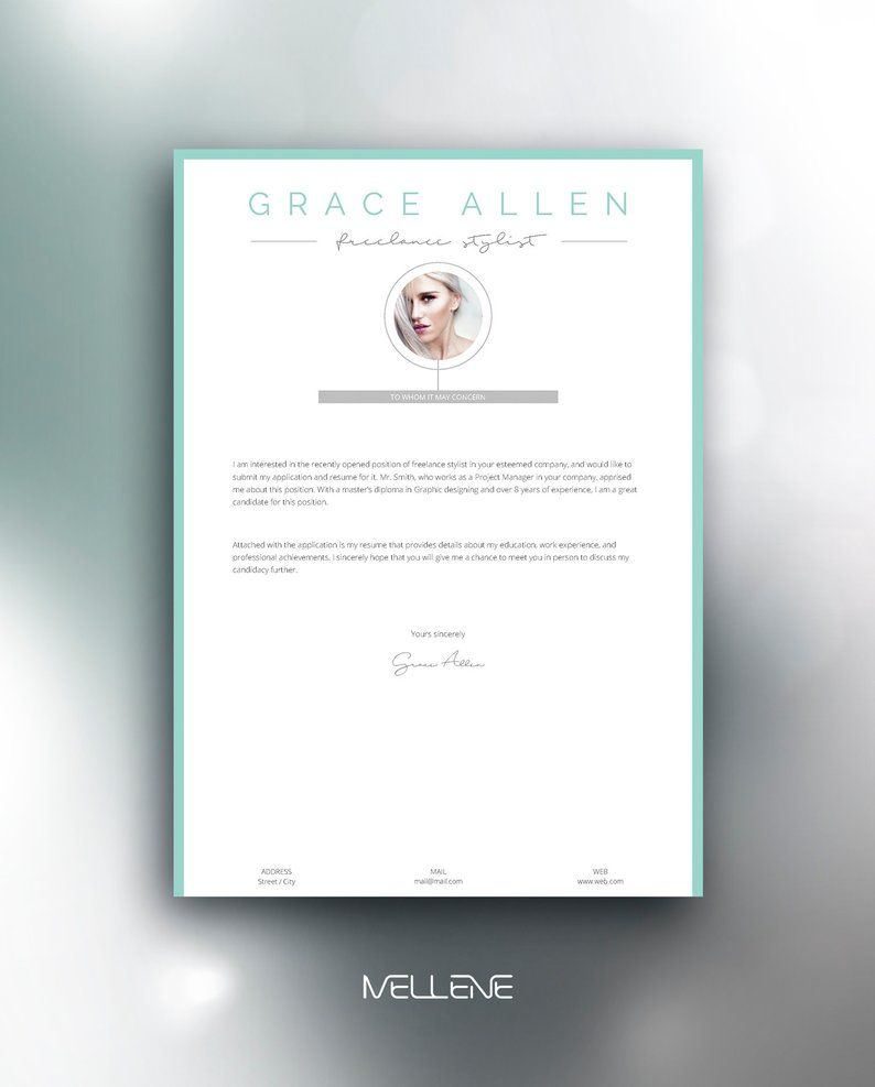 Resume Template 3 Page Cv Template Cover Letter Instant Etsy Resume Design Template Resume Template Cv Template