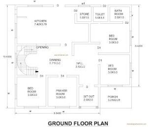2630 sq ft 5 Bed Room Floor Plan