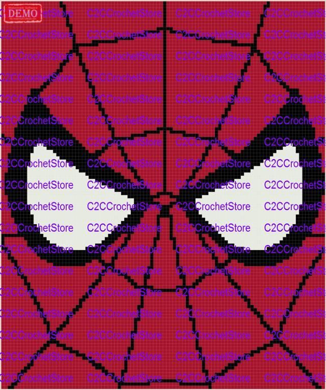 C2c spiderman web and eyes graph pattern spiderman web crochet c2c spiderman web and eyes graph pattern craftsy afghan crochet patternscrochet chartspiderman ccuart Image collections