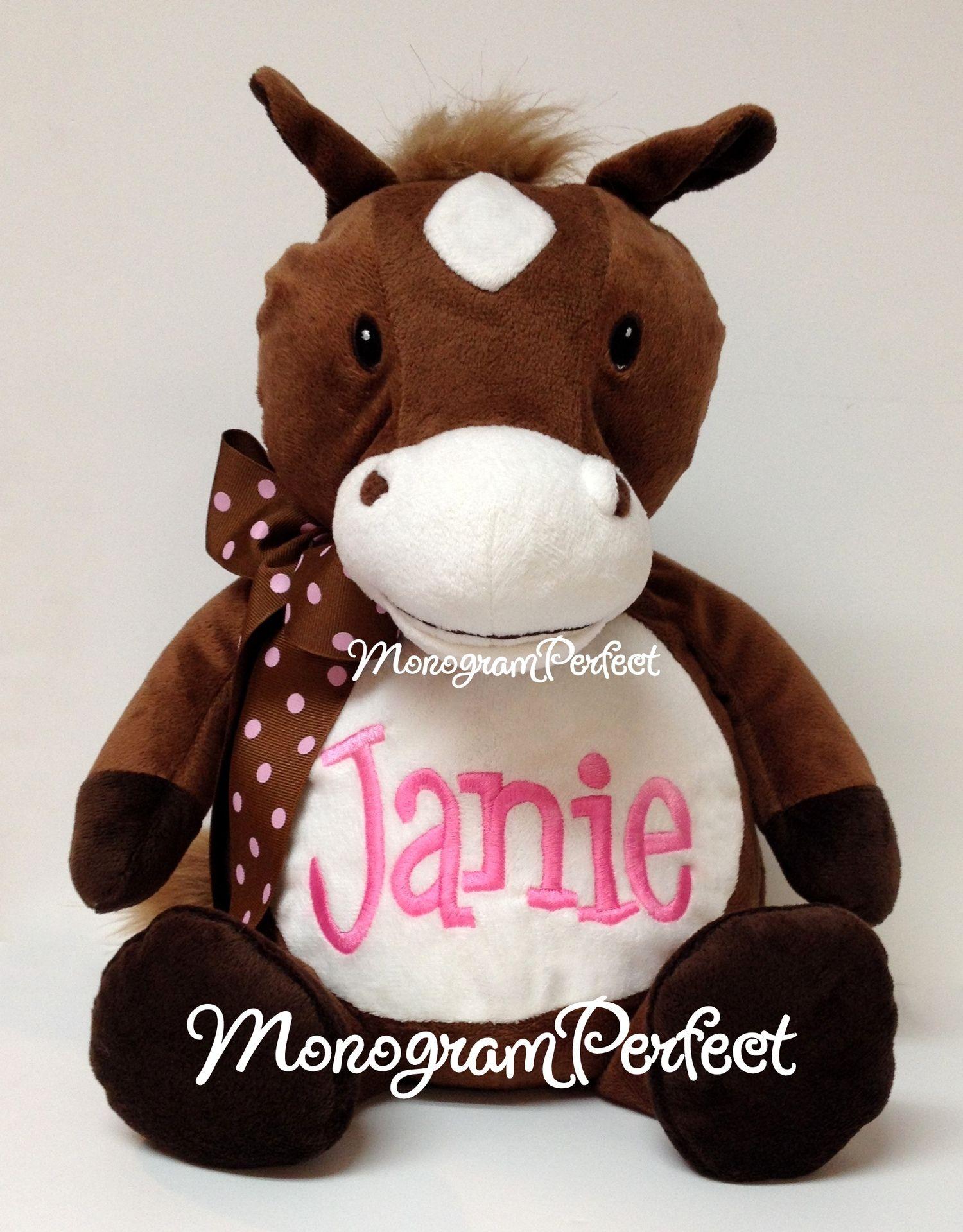 "Personalized 16"" Horse Stuffed Animal Personalized"
