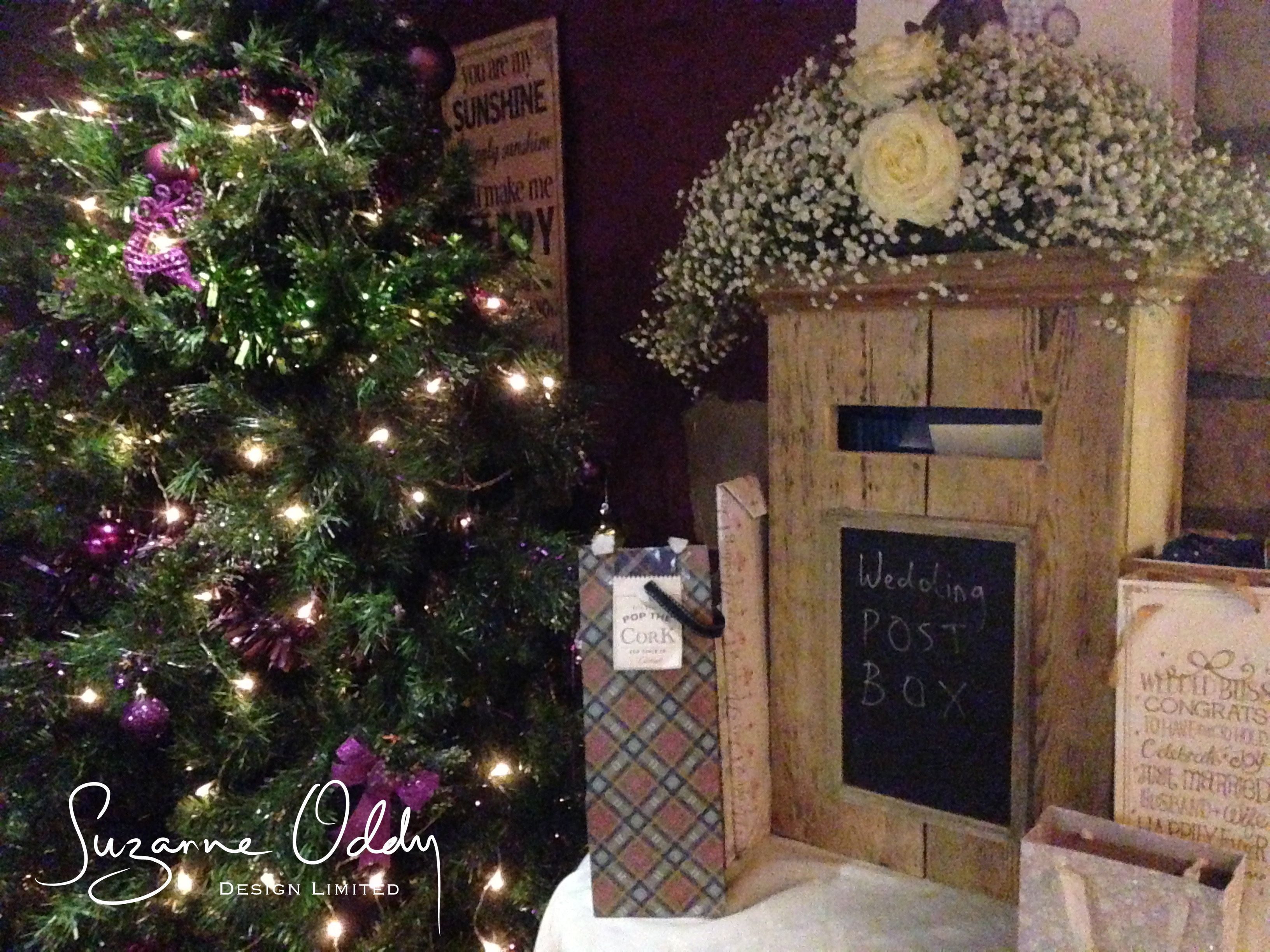 Wedding post box decorations  Hire my chunky wooden post box  Inspiring Decor for an imaginative