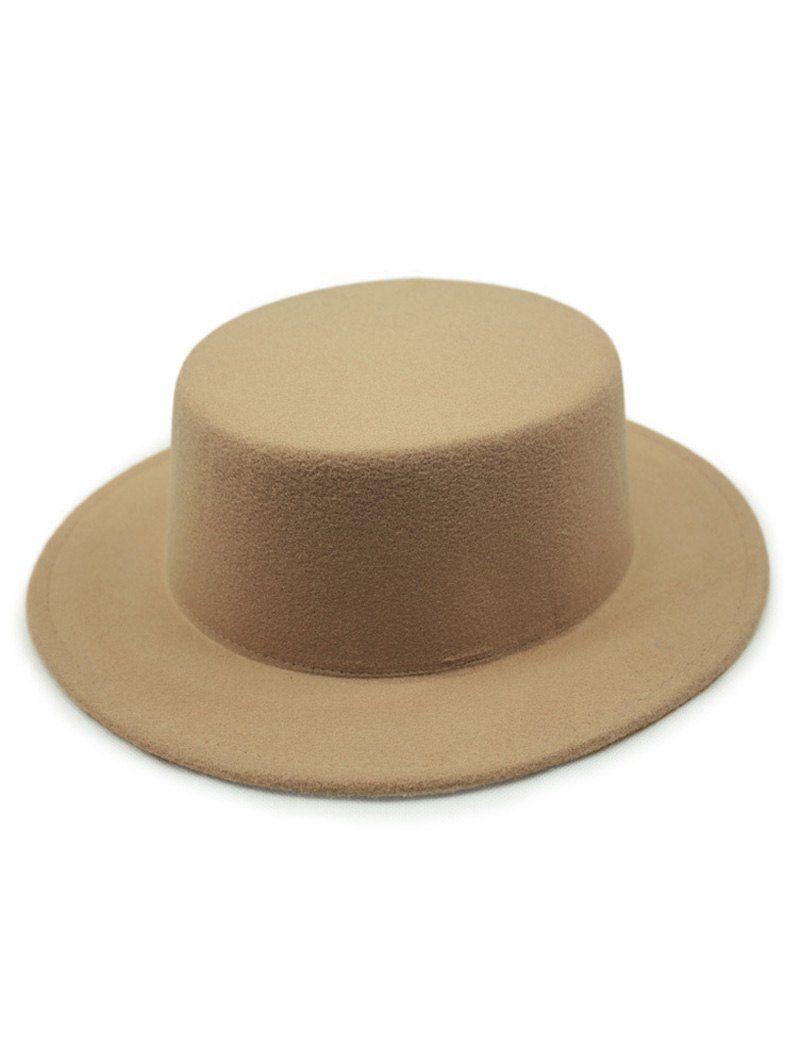 a9018eb9c796 $7.83 Chic Solid Color Flat Top Felt Fedora Hat | It's a Wonderful ...