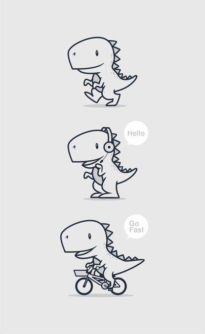 Draw A Cute T Rex Icon Mascot Character Or Mascot Contest Dinosaur Tattoos T Rex Tattoo Cute T Rex