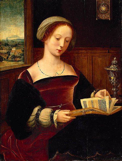 Image result for reading in renaissance painting