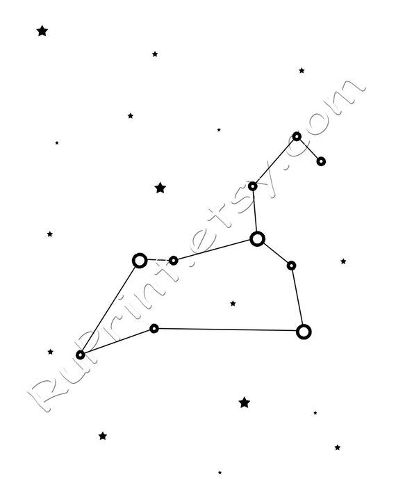 picture about Constellation Printable referred to as Leo zodiac artwork, Leo constellation print, black and white