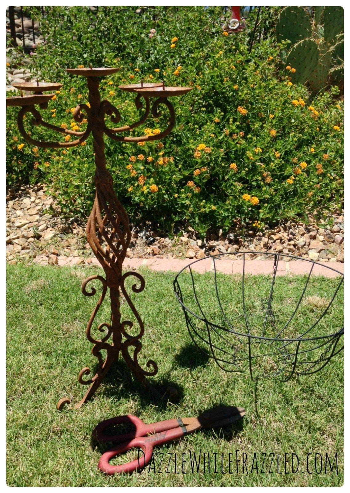 How To Make Garden Planter From Old Candelabra Garden Planters Diy Candelabra Planters
