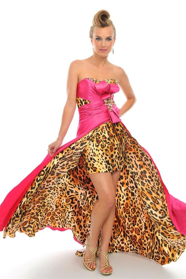 Cheetah print prom dress