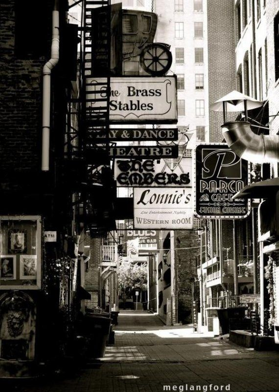 Printers Alley Nashville Photograph, Black and White ...