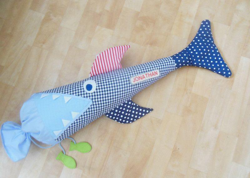Nähanleitungen Kind - Schnittmuster für eine Hai Schultüte Ebook ...