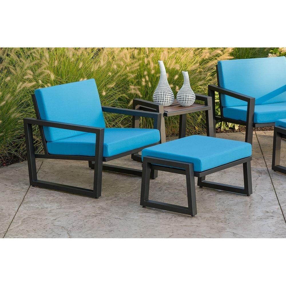 Elan Furniture Vero Outdoor 2 Piece Lounge Set Sky Blue