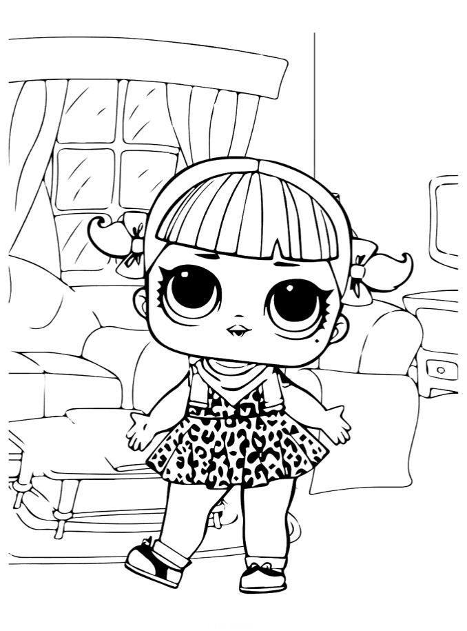Раскраски «Куклы LOL» - «Кукла ЛОЛ Вишня клуб ретро» в ...