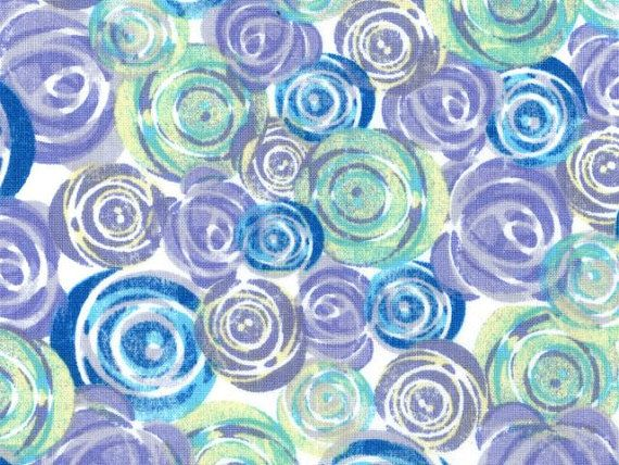 Windham Lulu Another Point of View Roses Purple Gray Blue White floral flowers modern sewing/quilting 100% cotton fabric by the yard