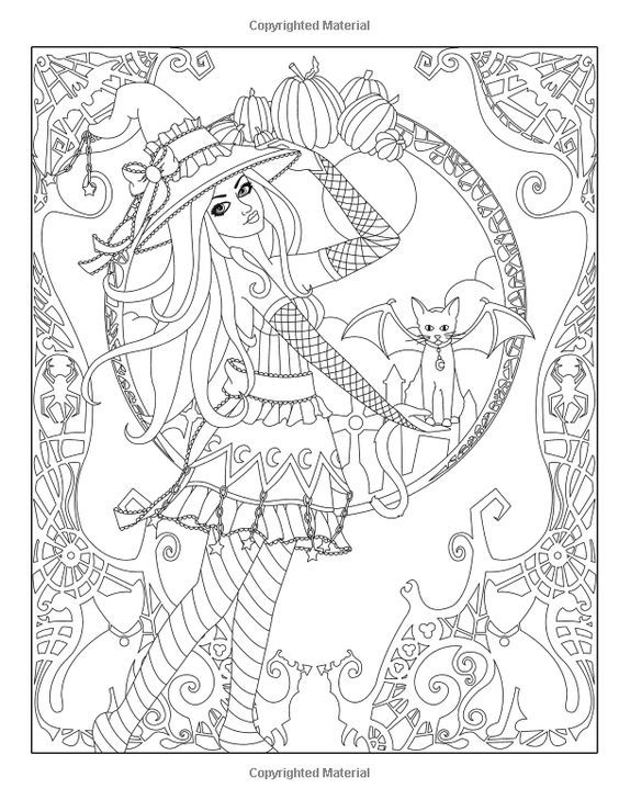 Spellbinding Images: A Fantasy Coloring Book of Witches (Volume 1 ...