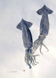 Image result for gyotaku squid