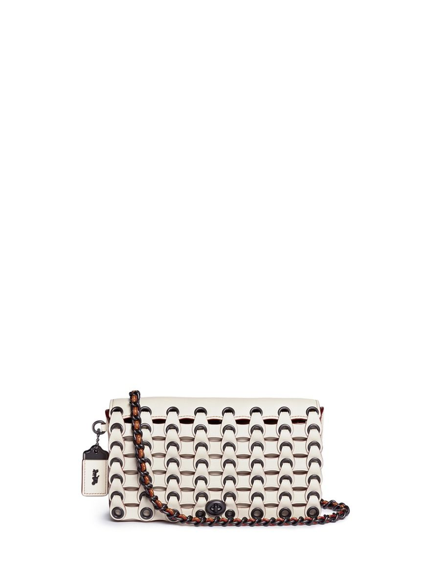 049000bf7e ... discount coach dinky coach link glovetanned leather crossbody bag. coach  bags 53287 cb3a4