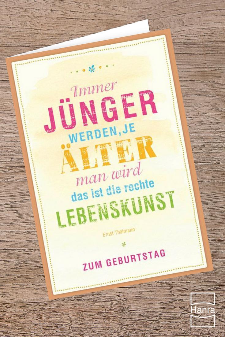 Die 30 besten Sprüche und Anregungen, was du in eine Geburtstagskarte schreiben kannst, findest du im Grußkartenblog unter blog.hanra.de