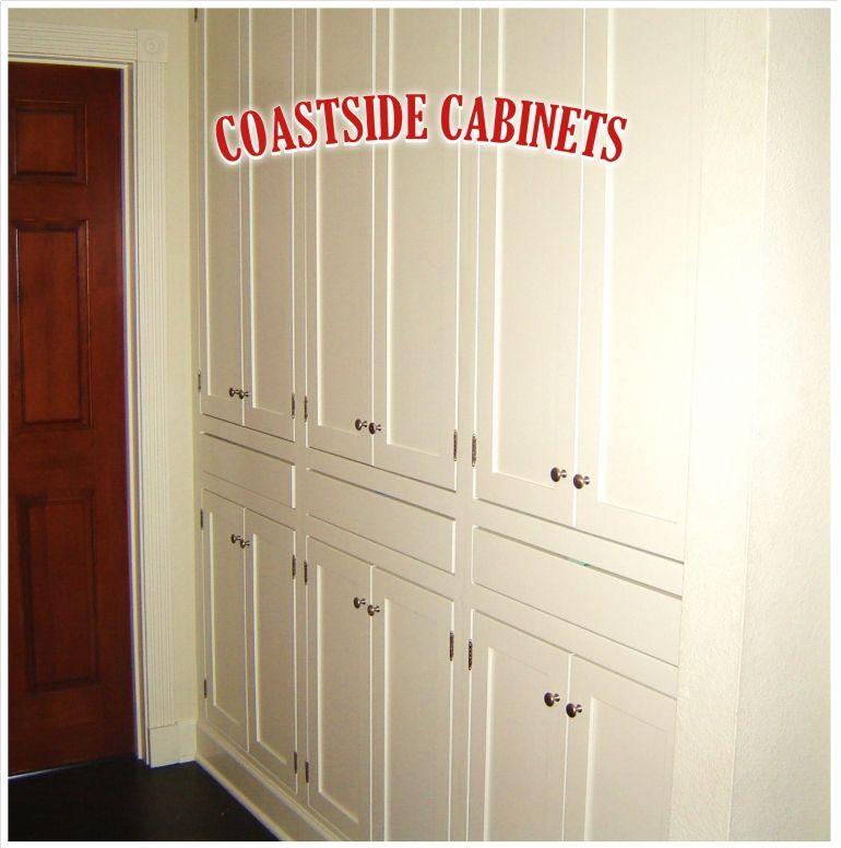 Custom Hallway Shelves Floor To Ceiling Coastside Cabinets Hallway Built In Cabinets