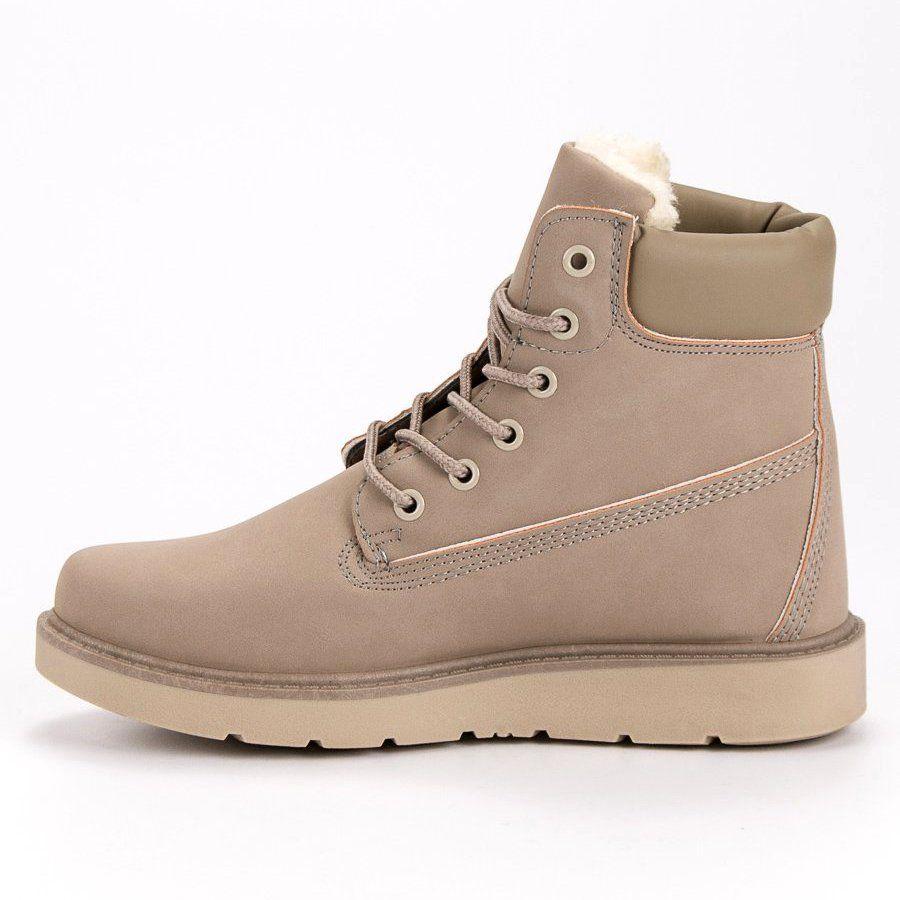 Traperki Na Platformie Brazowe Boots Womens Boots Boot Shoes Women