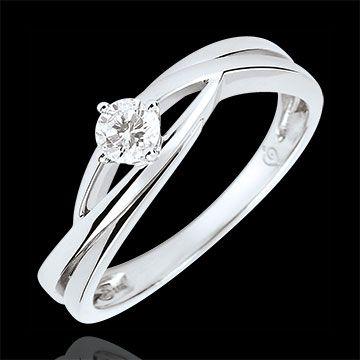4e15abd36fc ventes en ligne Bague solitaire Nid Précieux - Dova - diamant 0.15 carat - or  blanc 18 carats