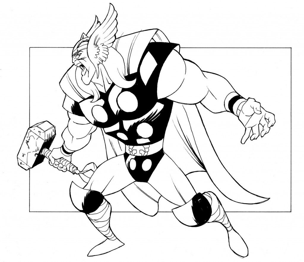 Free Printable Thor Coloring Pages For Kids Avengers Coloring