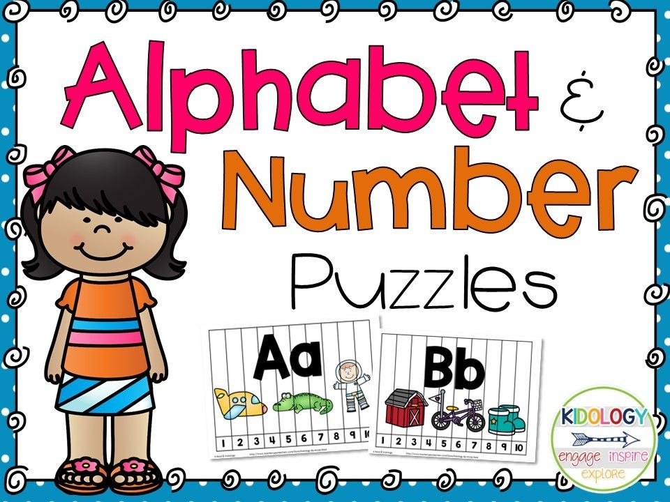 Alphabet and Number activities! Great literacy and math center.  Perfect for pre school, home school or kindergarten! $