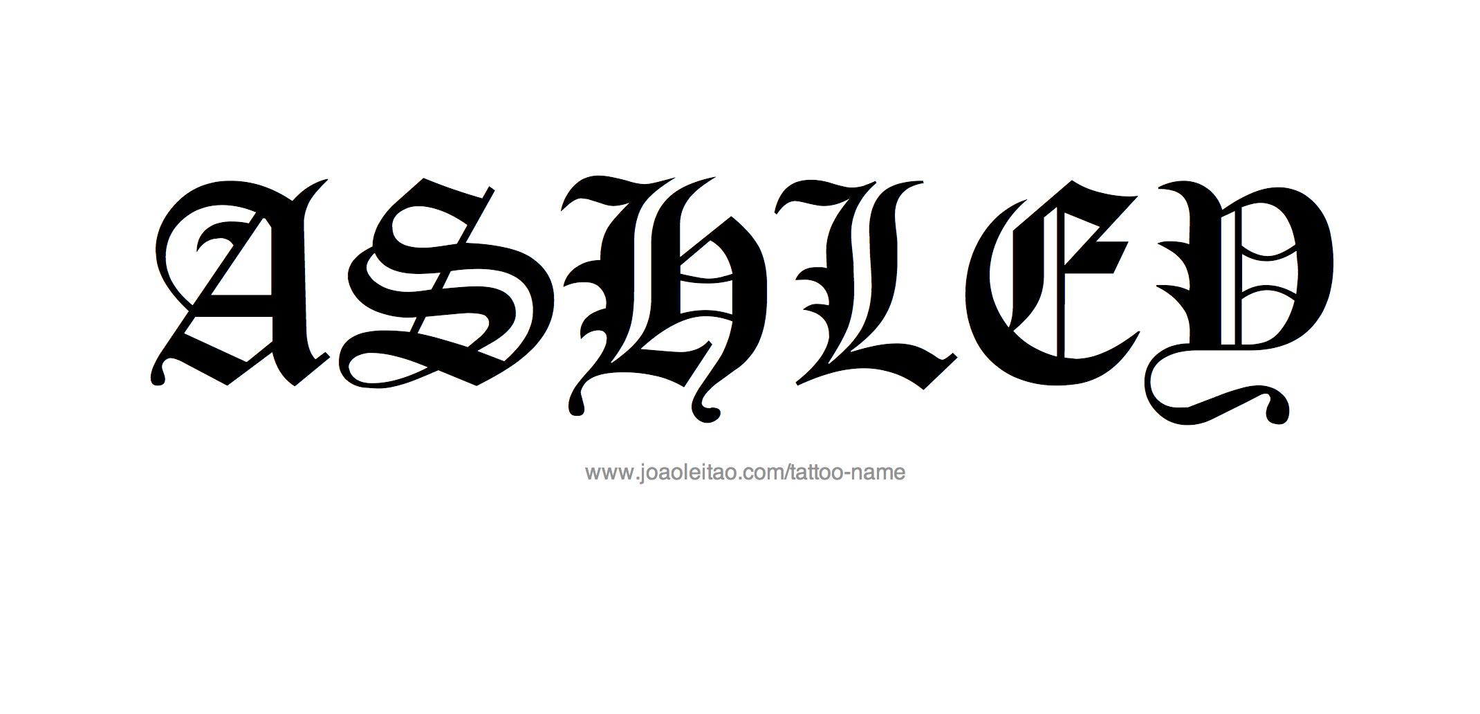 ashley name design
