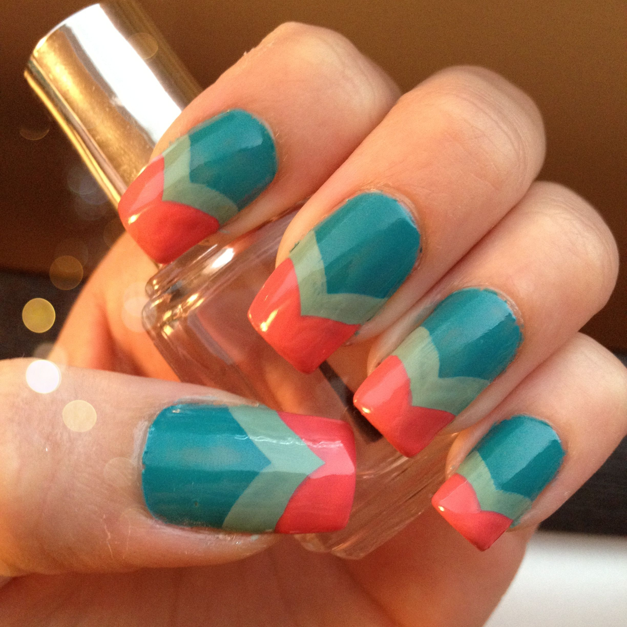 Nail Buttons: My Fishtail Nails Using OPI Fly & Mermaids Tears With