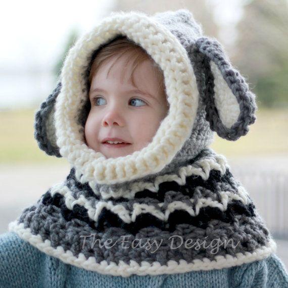 Crochet Pattern Patron De Crochet Dean Dog Hooded Cowl Hood Etsy 5