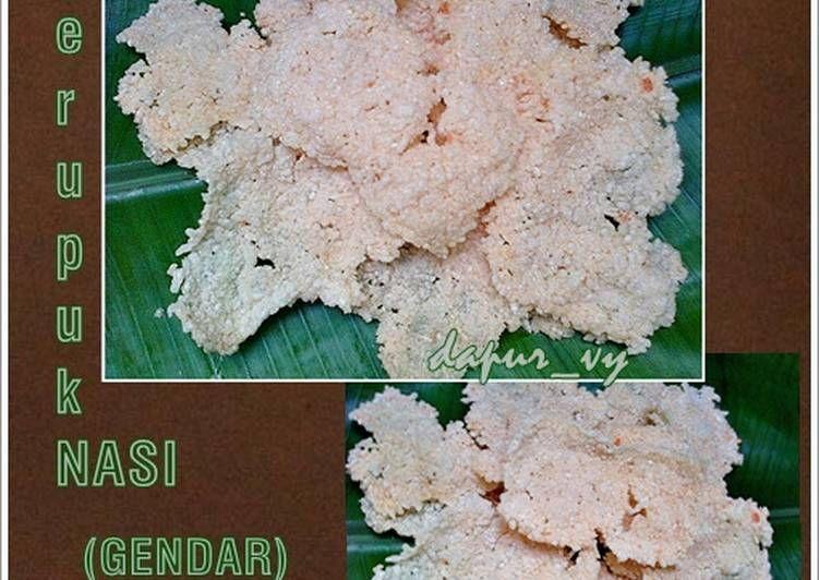 Resep Kerupuk Gendar Renyah Kerupuk Nasi Oleh Dapurvy Resep Resep Makanan Mudah Keripik