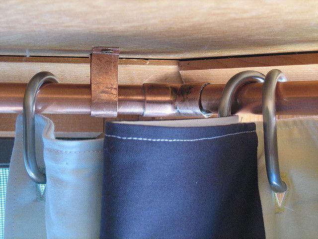 Copper Curtain Rod Diy Bay Window Curtains Bay Window Curtains