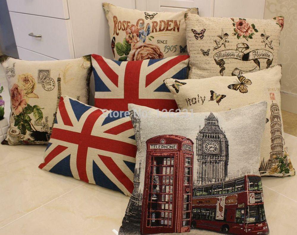 European pastoral Series Sofa Cushion Cover 45 * 45CM Boutique explosion models Pillow Cover European classical Pillowcase