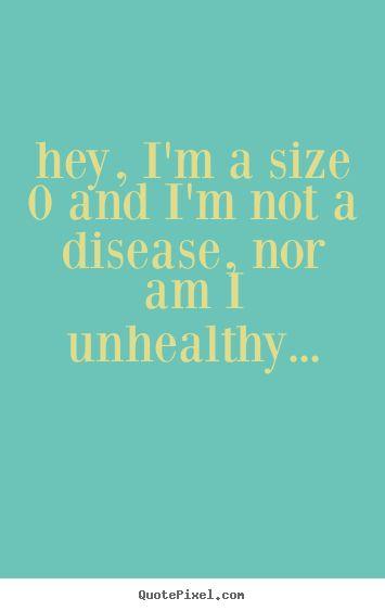 Skinny/slim girl positive quote | life