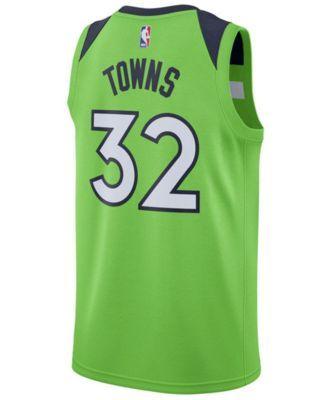 5638cd7e639 Nike Men s Karl-Anthony Towns Minnesota Timberwolves Statement Swingman  Jersey - Green XXL
