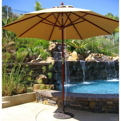 Galtech 9 Ft Double Pulley Sunbrella Patio Umbrella Products