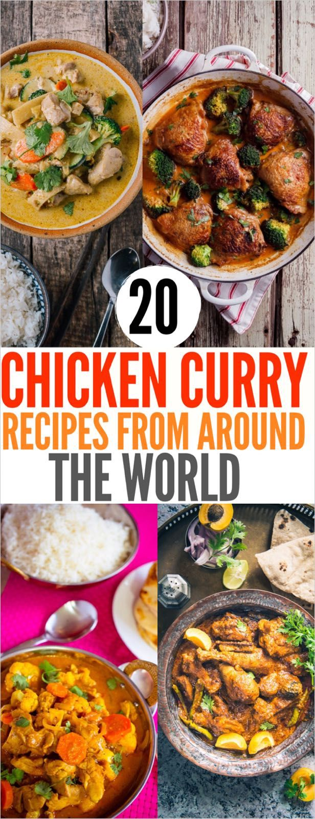20 Chicken Curry Recipes From Around The World Curry Recipes Curry Chicken Recipes Recipes