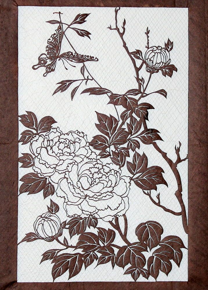 e93b4da1d Antique Japanese Kimono Fabric Stencil Katagami Print Edo Woodblock  #Antiquefabricstencilworkshop