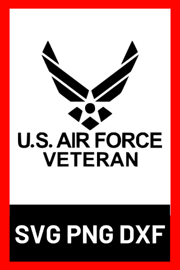 Us Air Force Veteran Svg Png Dxf Design Files The Right Side Designs Dxf Etsy Svg